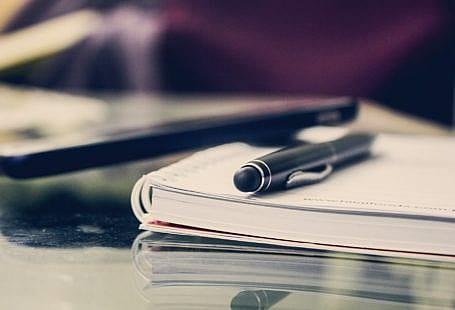 notebooks on the desk