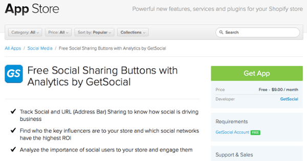 How to add social sharing buttons to Shopify | Inside GetSocial