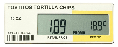 electronic price label
