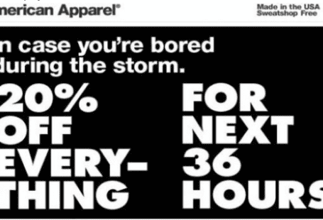ammerical apparel storm fail