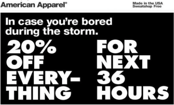 ammerical apparel storm fail