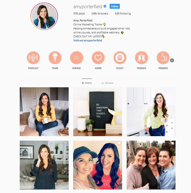 amy porterfield social media strategy