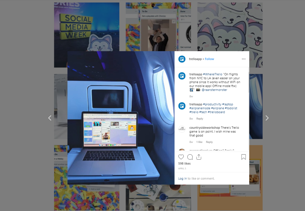 trello instagram strategy example