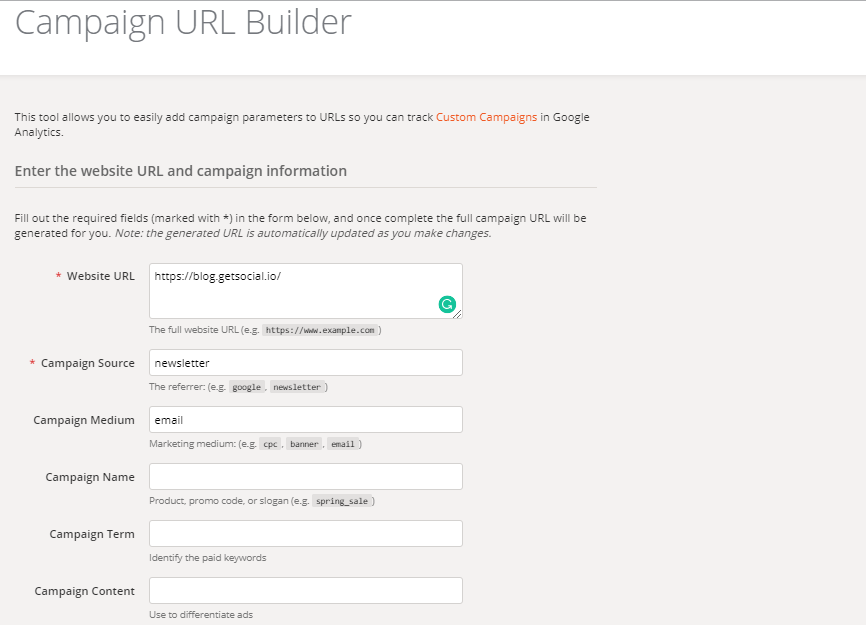 url campaign builder